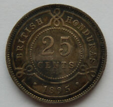 1895 British Honduras 25 Cents Silver Coin KM#9 Uncleaned  SB5513