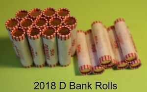 2018 D LINCOLN CENT Bank Roll 50 Coins