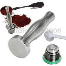 Stainless Steel Reusable Capsule + Coffee Tamper Hammer For Nespresso Machine