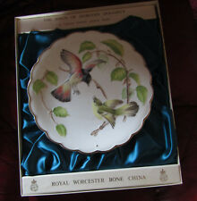 Royal Worcester Dorothy Doughty Birds Ltd Edition Plate Redstarts & Beech......