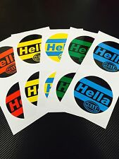 Hella Light Cover Decals For Golf mk2 spot coloured red blue green Yellow