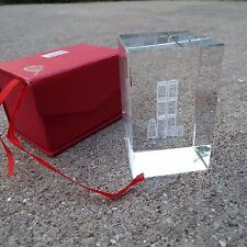 World Trade Center Twin Towers New York Glass Paper Weight in Collectible Box