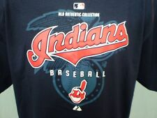Cleveland Indians Blue XL T-Shirt NWT Chief Wahoo Logo Cotton