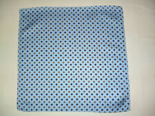 Silk mens top pocket handkerchief  Blue/yellow classic design on pale blue  NEW