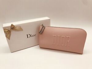 """Authentic DIOR Pink Cosmetic Makeup Bag Pouch Clutch Wallet """"NEW IN BOX"""""""