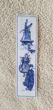 Holland Netherlands Bookmark Printed On Linen Vintage