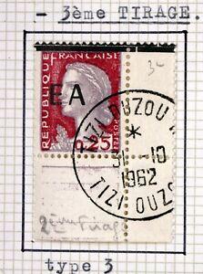 Tizi Ouzou 3er Pull Algeria EA 1962 Overload Obliterated Gum Origin Y58