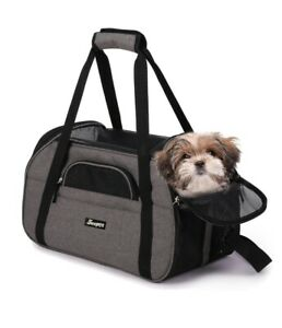 Jespet Soft-Sided Dog& Cat Carrier Bag, Airline Approved 17 in.