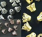Wholesale Gold /Silver/Copper Plated Cup Bead Caps Jewelry Findings 6mm 8mm