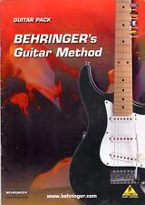 Behringer's GUITAR METHOD Music Book in 4 LANGUAGES! + FREE BONUS