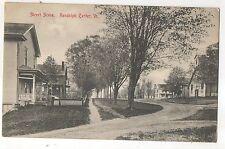 Street Scene RANDOLPH CENTER VT Vintage Early Vermont Postcard Dirt Roads