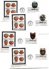 1834-37 Indian Masks Carrollton set of 4  FDCs