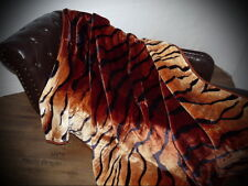 KUSCHELDECKE Tagesdecke Decke Plaid Tiger - Look 160x200cm