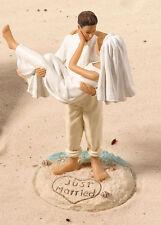 Cake Topper Matrimonio tema Mare sposini capelli biondi torta nuziale sposi