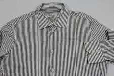 E7164 van Laack Royal Businesshemd Langarm 42 weiß braun gestreift Sehr gut