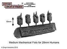 Zinge Industries puños mecánico talla humana Juego de 5 bits de escala 28mm S-MEL03