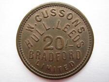W Cussons Ltd, Hull Leeds & Bradford 20 Shilling token.