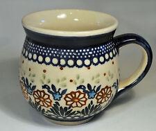 Boleslawiec Ceramic Poland Coffee 16oz. Potbelly Hand Made Mug Cup