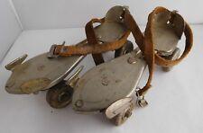 Vintage Antique Kingston Olympic Roller Skates Usa Adjustable Leather-Strap-On