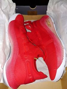 Under Armour Team Curry 6 Basketball Shoes 3022893-605 Men's Size 13 Red
