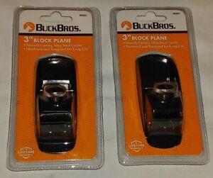 "2 BRAND NEW Buck Bros Handheld Block Plane Planers 3"" Model Maker Wood"