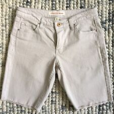 COUNTRY ROAD Women's Size 4 Beige Colour Cut Off Denim Shorts Frayed Edges