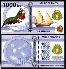 RARE ★ ILE EUROPA ● TAAF / COLONIE ● BILLET POLYMER 1000 FRANCS ★ N.SERIE 000006