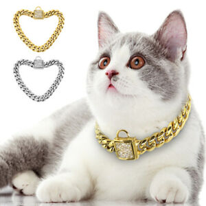 Luxury Dog Cat Chain Collar Bling Rhinestone XSmall Puppy Fashion Cool Necklace