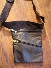 Moroccan brown handmade leather  money pocket  holster or waist wear