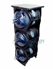 Black Water Bottle Holder Stand 3 & 5 Gallon Rack 3 Tier Stack Table Counter New