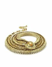 Roberto Cavalli Gold-Toned Snake SWAROVSKI Crystal Embellishment Belt NIB $2200