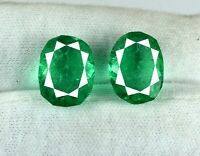 18-20 Carat Oval Emerald Gemstone Pair VS Clarity Natural Zambian AGI Certified