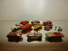 FALLER LOT of 10x HIT CAR - PORSCHE FERRARI JAGUAR FORD CAPRI - NICE CONDITION