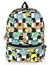 Pokemon All Over Checkered Backpack/Book Bag