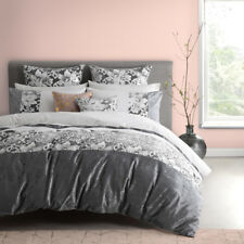 Platinum Logan and Mason King Size Bed Colette Silver Doona Quilt Cover Set