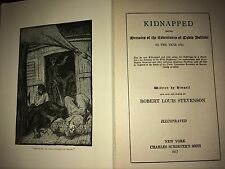 ROBERT LOUIS STEVENSON - KIDNAPPED - 1917 - WITH FOLD OUT MAP!