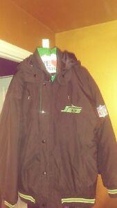 Vintage New York Jets Throwback Puffy Parka Starter Jacket Medium! Helmet Logo