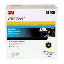 3M(TM) Green Corps(TM) Roloc(TM) Disc, 01406, 3 in, 50YF, 25 discs per box