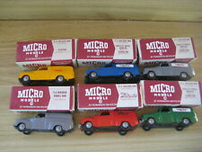 MICRO MODELS SET of 6 HOLDEN FJ Panel Vans PLASTIC VERSION made in WA  Post incl