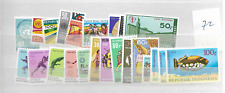 1972 MNH Indonesia year complete according to Michel system