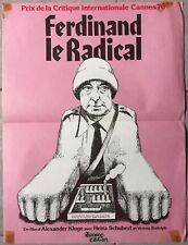 Affiche FERDINAND LE RADICAL Alexander Kluge HEINZ SCHUBERT 40x60cm *