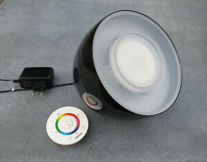 Philips Living Colors Iris Schwarz LED Leuchte mit Fernbedienung