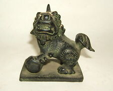 STATUE ANIMALIERE BRONZE LION DRAGON CHIEN DE FO ASIATIQUE