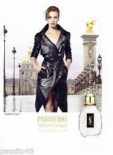 PUBLICITE ADVERTISING 116  2011  Yves Saint Laurent parfum La Parisienne M Vatch
