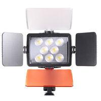 Pro LED Video Light Lighting + NP-F750 Battery For DV Camcorder Canon Nikon DSLR
