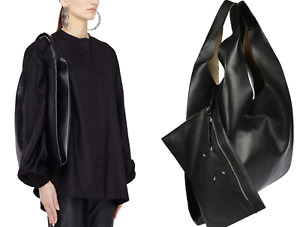 Maison Margiela Leather Bag With Pouch oversized shopper Tote Weekender Pocket