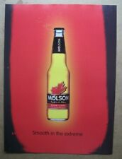 MOLSON BEER - SMOOTH IN THE EXTREME - ORIGINAL DRINK PRESS ADVERT - 30 x 22cm
