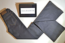 ALL SAINTS NEW Jeans Immaculate Womens Flare Fit Navy Blue Skinny W25 L35
