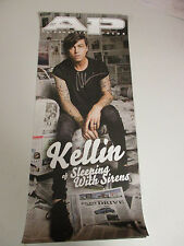 SLEEPING WITH SIRENS KELLIN SIGNED AUTOGRAPHED POSTER W/ SIGNING PICTURE PROOF