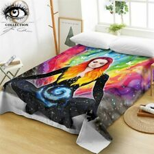 Meditation By Pixie Cold Art Flat Sheet Microfiber Colorful Bed Sheet